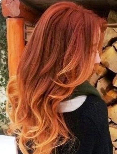 Ombre-Hair-for-Soft-Waves Hair Color Trends for 2019: Red Ombre Hairstyles