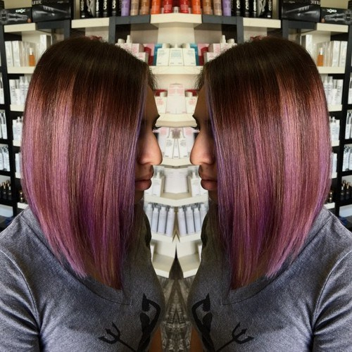 Pastel-Angled-Bob New Hairstyles and Hair Color Ideas for Fall