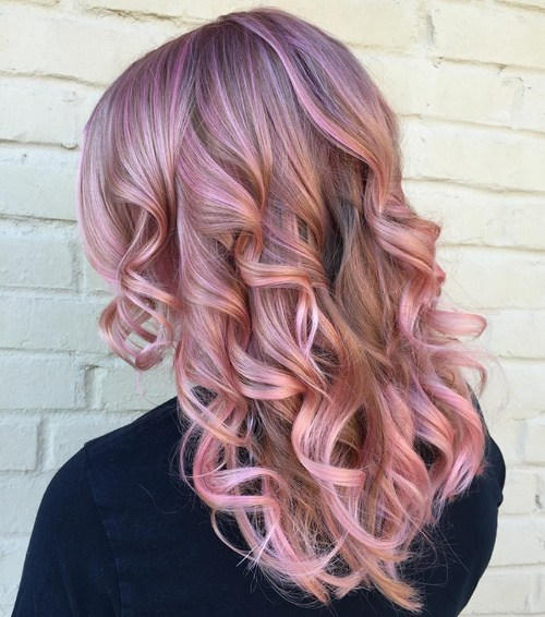 Pastel-Pink-for-Winter Best Hair Colors for Winter 2019: Hottest Hair Color Ideas