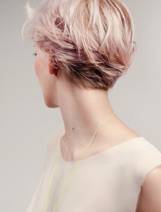 Pink-Short-Hairstyle Chic Short Cuts You Should Not Miss - Short Hair Trends for 2019