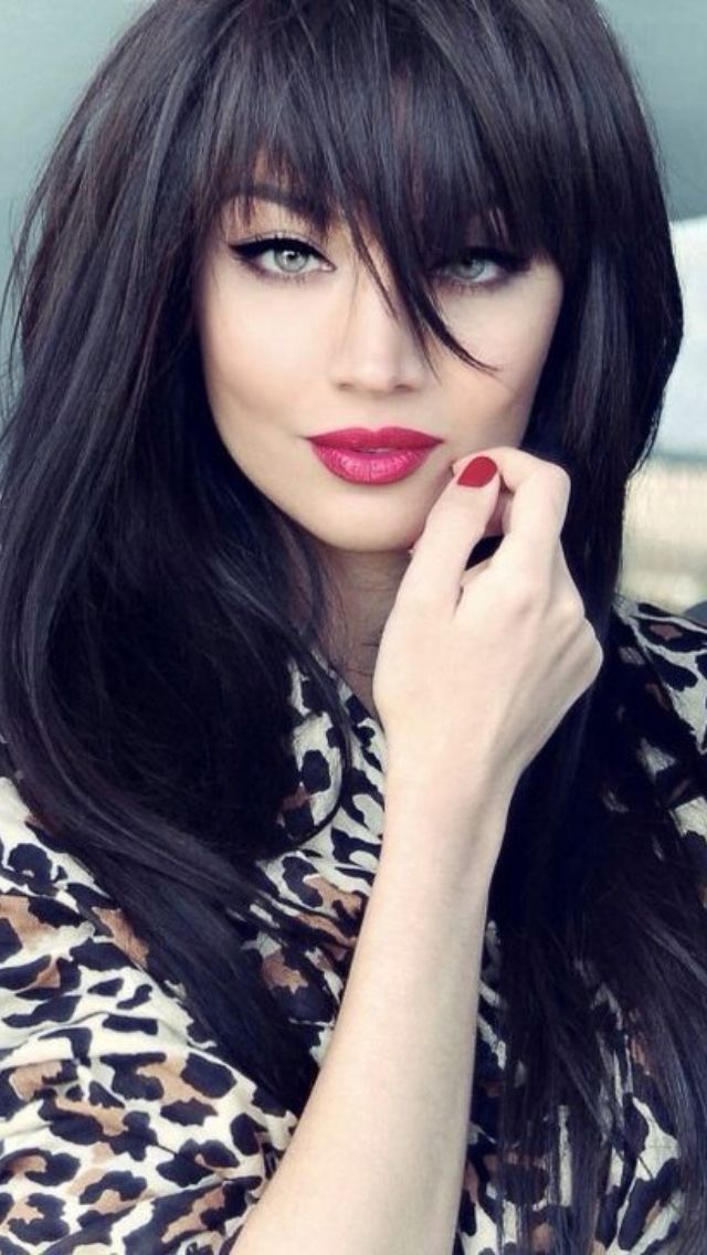 Pretty-Hairstyles-for-Black-Hair-Interesting-Bangs Stunning Hairstyles for Black Hair 2019