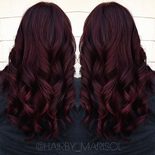 Princess-Curls Trendy Mahogany Hair Color Ideas
