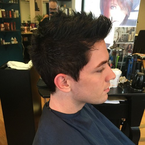Pulled-up-Hair Hottest Faux Hawk Hairstyles for Men