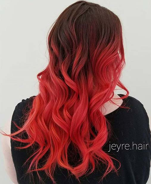 Red-Ombre-Hairstyles-6 Hair Color Trends for 2019: Red Ombre Hairstyles