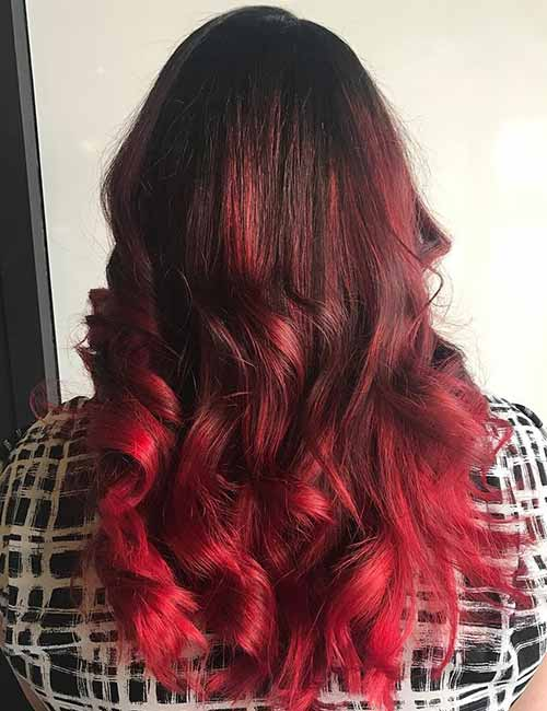 Red-Ombre-Hairstyles-8 Hair Color Trends for 2019: Red Ombre Hairstyles