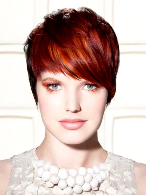 Red-highlights-in-dark-hair Best Short Hair Color Trends 2019