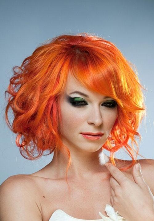 Red-orange-hair-color Best Short Hair Color Trends 2019