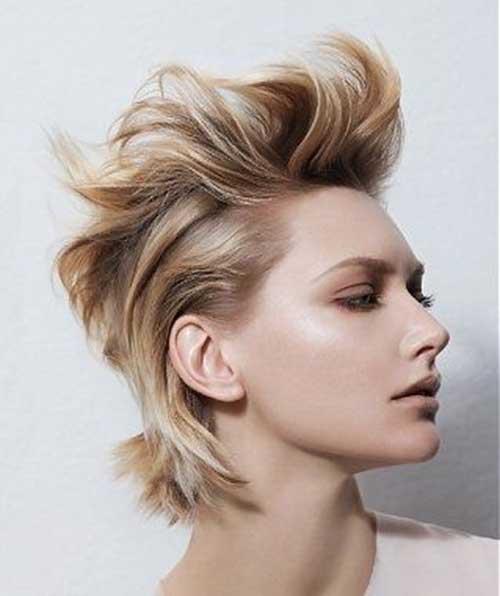 Short-Blonde-Boyish-Messy-Hair Messy Hairstyles for Short Hair