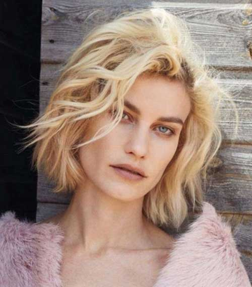 Short-Blonde-Natural-Messy-Curly-Hair Messy Hairstyles for Short Hair