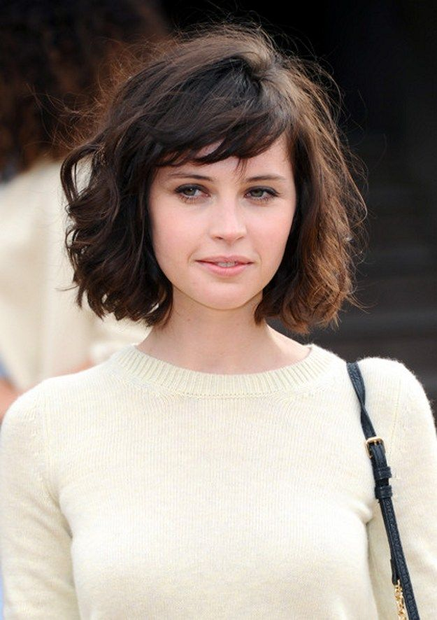 Short-Curly-Bob-Hairstyle-with-Bangs Trendiest Bob Haircuts for Women