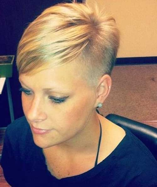 Short-Cute-Girl-with-Side-Shaved-Straight-Hair Best Cute Girl Short Haircuts To Help You Out