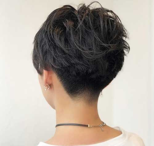 Short-Nape-Back-View Pixie Hairstyles for the Best View