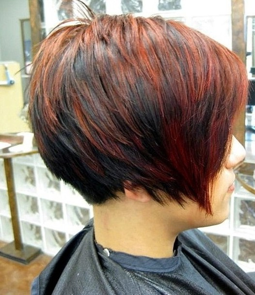 Short-Red-Black-Haircut-for-Women Chic Short Cuts You Should Not Miss - Short Hair Trends for 2019