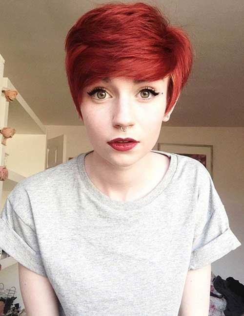 Short-Red-Pixie-Hair-for-Cute-Girls Best Cute Girl Short Haircuts To Help You Out
