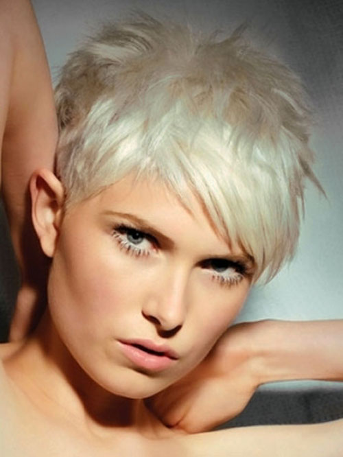 Short-white-haircuts Best Short Hair Color Trends 2019