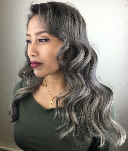 Silver-Waves Best Hair Colors for Winter 2019: Hottest Hair Color Ideas