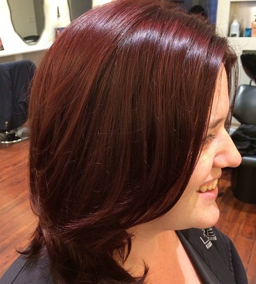 Simple-Bob Trendy Mahogany Hair Color Ideas