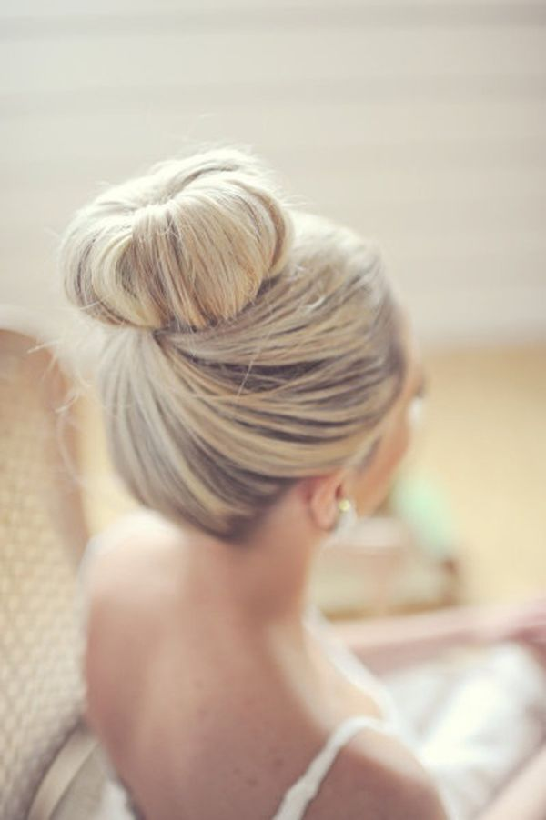 Simple-Wedding-Bun-Hairstyle Simple But Beautiful Wedding Hairstyles 2019