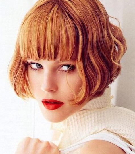 Stylish-Short-Bob-Hairstyle-with-Blunt-Bangs-for-Thick-Hair Short Bob Haircuts: Hottest Bob Hairstyles 2019
