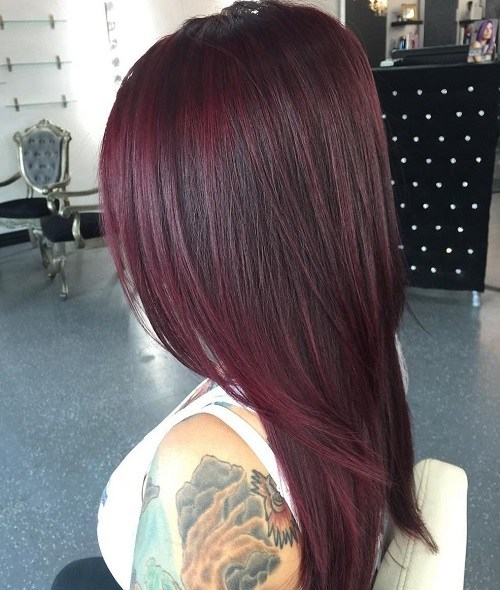 Super-Sleek Trendy Mahogany Hair Color Ideas