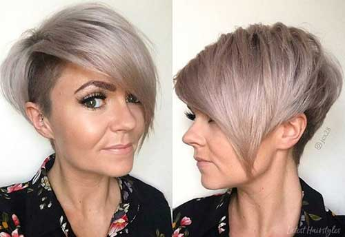 Thick-Long-Side-Bangs Short Hairstyles for Women Over 40 to Explore New Look