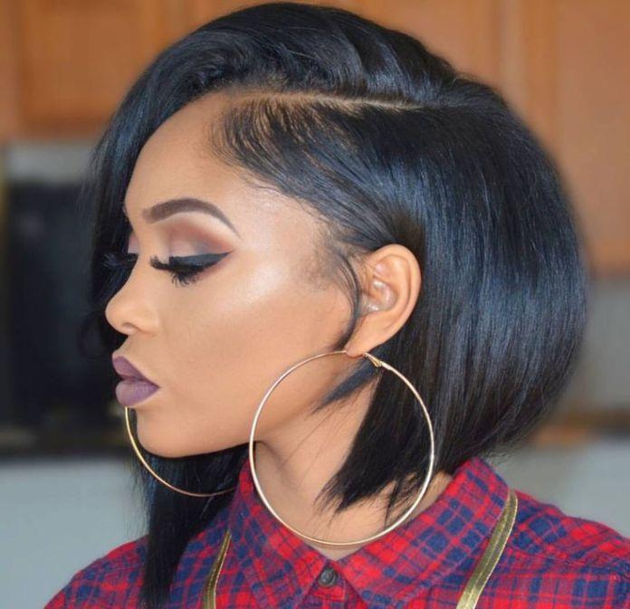 Trendy-short-black-bob-haircut Stunning Hairstyles for Black Hair 2019