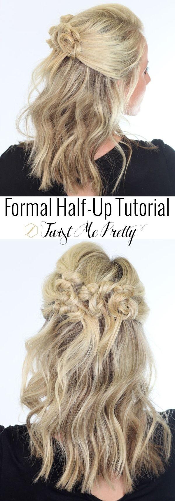 Twisted-Bun-Half-Updo-for-Mid-Length-Hair Great Hairstyles for Medium Length Hair 2019