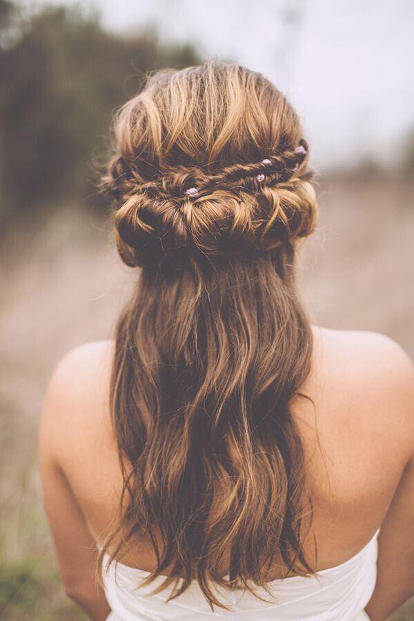 Wedding-Hairstyle-with-Fishtail-Braid Super Charming Wedding Hairstyles for 2019