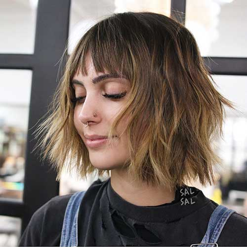 short-layered-hairstyles-with-bangs-1 Popular Short Layered Hairstyle Ideas