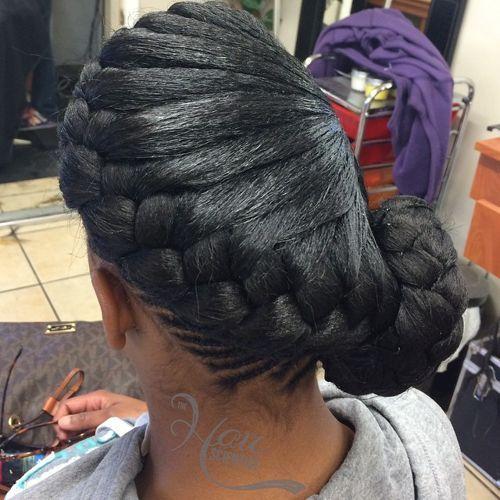 Angled-Bun Best Goddess Braids for Women – Goddess Braids Ideas
