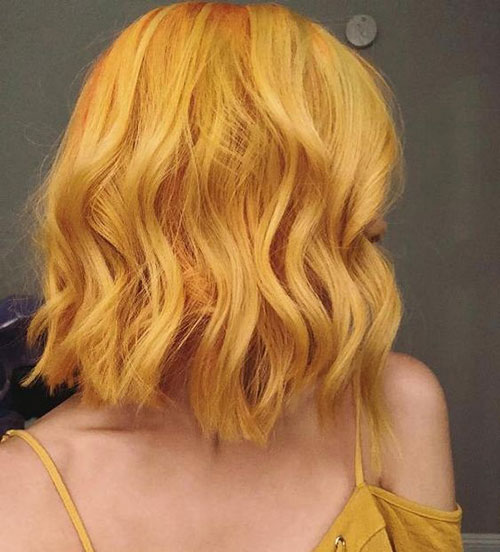 Blonde-Or-Yellow Best Short Hair Color Ideas and Trends for Girls
