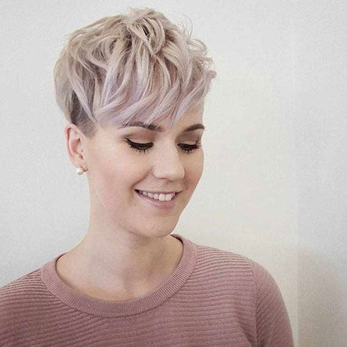 Blonde-Pixie-Bangs Top Short Hairstyles for Fine Thin Hair
