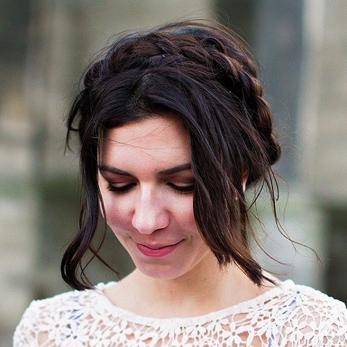 Braided-Bob Best Milkmaid Hairstyles – Pretty Milkmaid Braid for Women