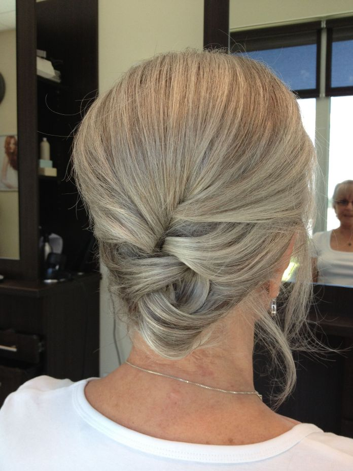 Braided-Bun-Angular-Hairstyle Best Hairstyles for Older Women 2019