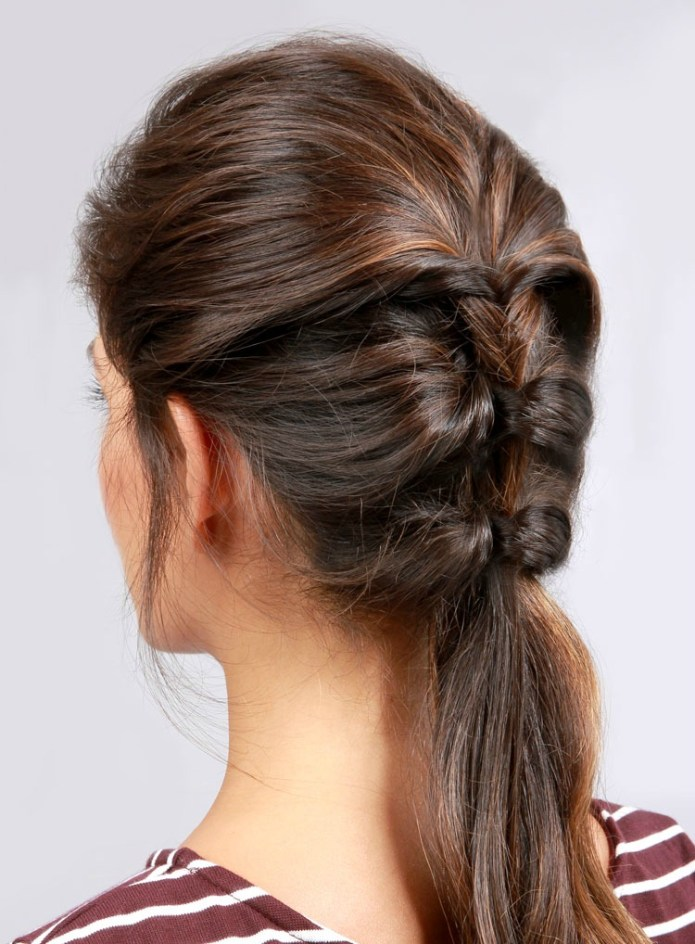 Braided-Ponytails-with-a-Twist Cool and Cute Summer Hairstyles for Women