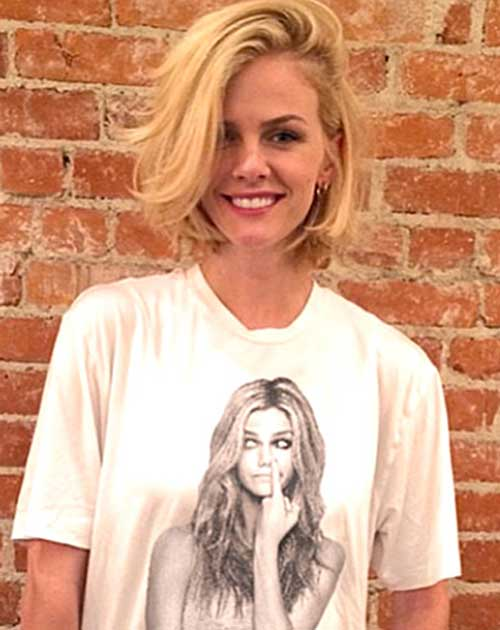 Brooklyn-Decker's-Untidy-Bob-Hairstyle Short Hairstyles 2019 Trends