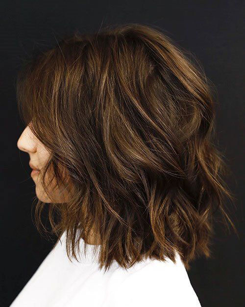 Brown-Hair-with-Highlights New Ideas Short Haircuts for Thick Hair