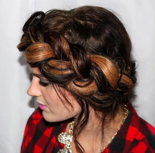 Brown-Ombre Best Milkmaid Hairstyles – Pretty Milkmaid Braid for Women