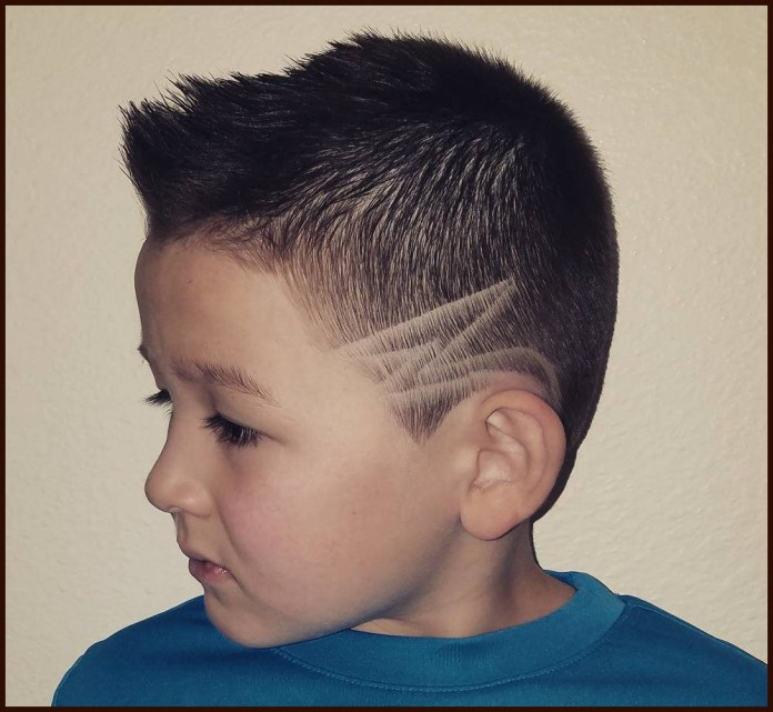 Center-Spike-with-a-Designer-Low-Fade-Haircut Stylish and Trendy Boys Haircuts 2019