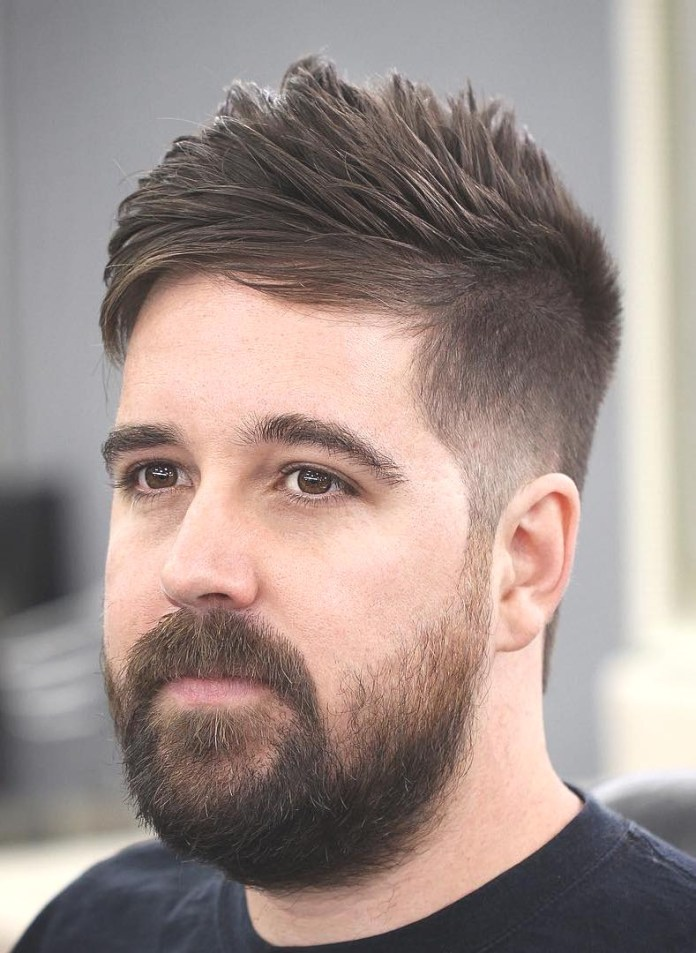 Central-Taper-Forward-Combed Mens Hairstyles Over 40 for Dapper Look