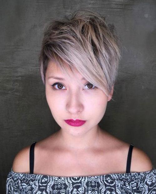 Choppy-Long-Pixie Short Pixie Cuts for Round Faces