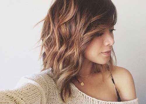 Cool-Wavy-Long-Bob-Hairstyle-for-Women Nice Layered Wavy Bob Hairstyle