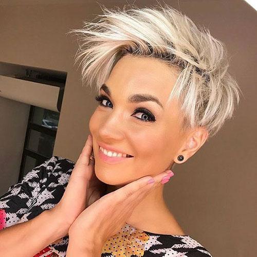 Cute-Short-Haircut-2019 Latest Edgy Pixie Haircuts