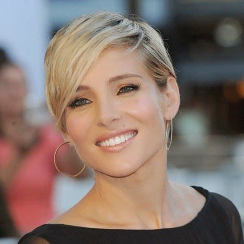 Cute-Side-Pixie-Cut-for-Round-Faces Short Pixie Cuts for Round Faces