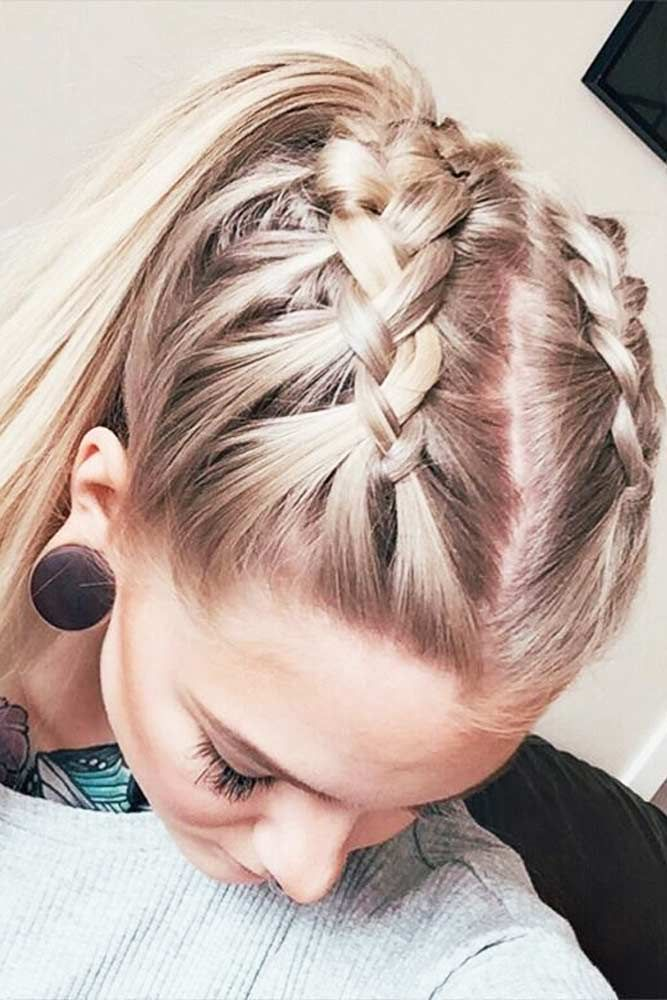 Double-Braid-and-a-Single-Pony Top Trending Medium Hairstyles for Girls