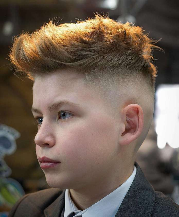 Faux-Hawk-Haircut-for-Boys Stylish and Trendy Boys Haircuts 2019