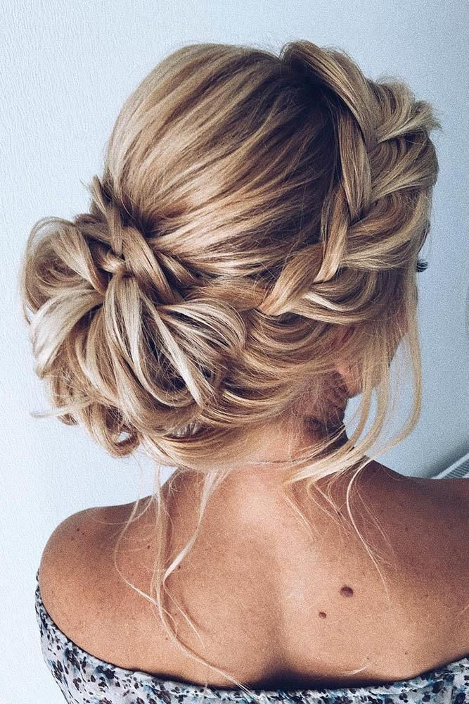 Front-Trail-Back-Bun-Hairstyle Classy and Charming Hairstyles for Wedding Guest