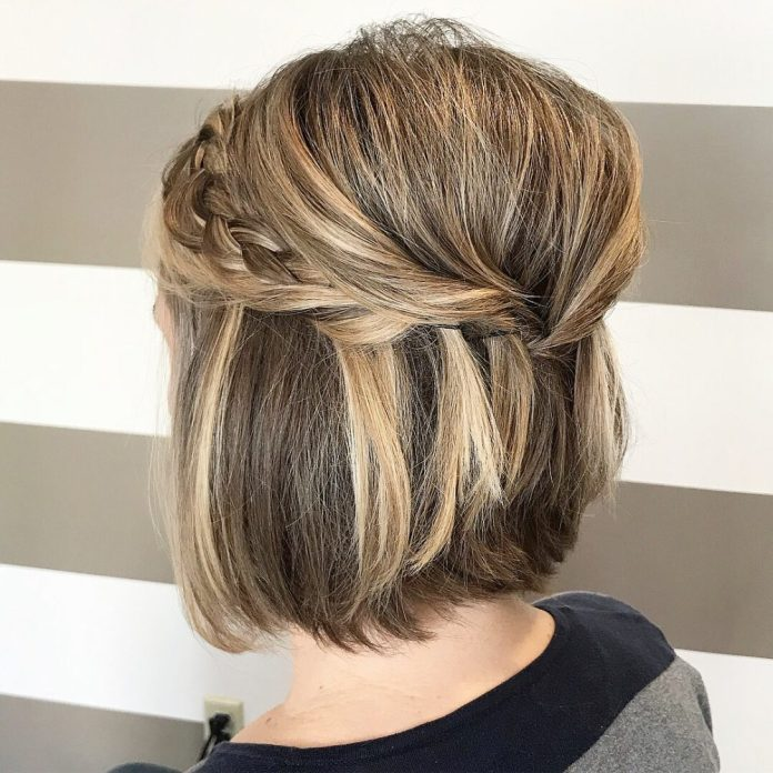 Greek-Braid-Hairstyle Classy and Charming Hairstyles for Wedding Guest