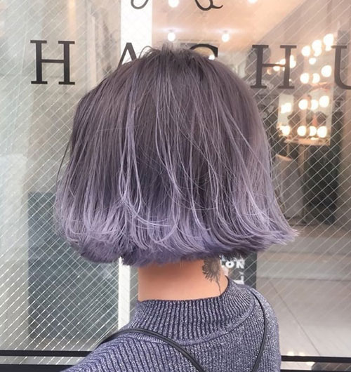 Grey-Ombre Best Short Hair Color Ideas and Trends for Girls