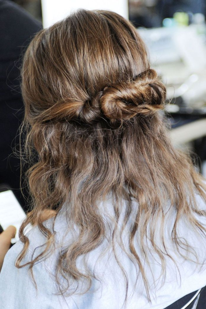 Infinity-Knot-Hairstyle Classy and Charming Hairstyles for Wedding Guest